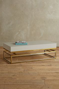 Lacquered Rectangular Coffee Table #anthropologie