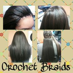 crochet braids with straight hair Crochet Braids Hairstyles, African Hairstyles, Girl Hairstyles, Braided Hairstyles, Crotchet Braids, Braid Styles, Short Hair Styles, Natural Hair Styles, Scarf Styles