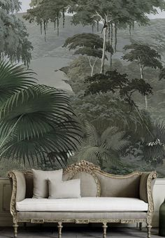 Ananbô that art deco victorian exotic mix is 100 - Amazing Interior Design Shabby Chic Tapete, Estilo Tropical, Of Wallpaper, Forest Wallpaper, Wallpaper Jungle, Wallpaper Ideas, Scenic Wallpaper, Chinoiserie Wallpaper, Pattern Wallpaper