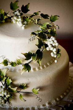 The perfect cake for a vineyard wedding.