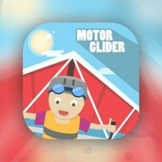 Motor Glider Game Icon Design