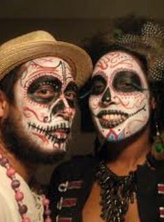 Skeleton Couple .. halloween face paintings