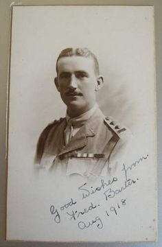 Fredrick Barter VC as a commissioned Captain. Soldiers, World War, Faces, Victoria, Portraits, Statue, History, Historia, Face