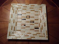 Mosaic Tile Decorative Tray (Ashtray) Retro Mid- Century Modern  Vintage