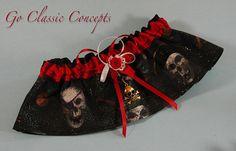 Pirate Skull Toss Garter  Halloween Wedding by GoClassicConcepts, $19.95