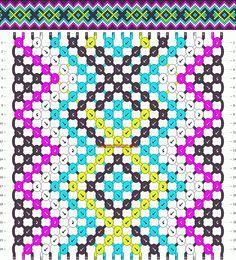Normal Friendship Bracelet Pattern #10621 - BraceletBook.com
