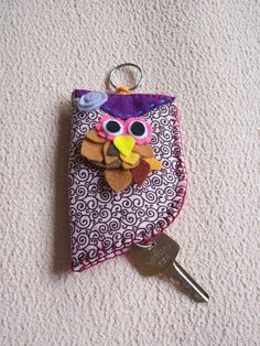porta chave de coruja