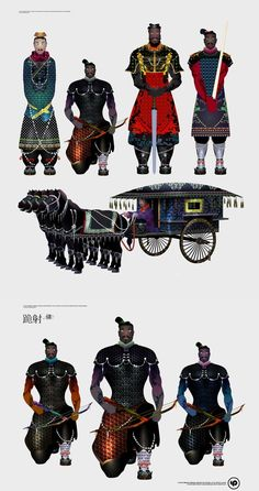 The Museum of Qin Terracotta Warriors and Horses in Xi'an, China invited illustrator Herry Ye to illustrate the various figures with a modern fashion style.