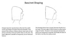 Bascinet shaping armor  Medieval helmet