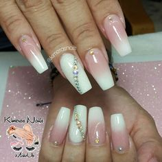 If you haven't tried the press-on nails give it a shot! It's beautiful durable and reusable nails at a fraction of salon prices. Glam Nails, Dope Nails, Bling Nails, Beauty Nails, Fun Nails, Perfect Nails, Gorgeous Nails, Cute Pink Nails, Coffin Nails Long