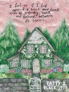 Patty's Place ART PRINT • Sweet Sequels Anne of the Island by LM Montgomery.  This is a painting of the home of Anne Shirley and her friends during their time in college. Literature Quotes, Book Quotes, Anne Of The Island, Lm Montgomery, Book Pillow, Quotes About Motherhood, Christian Quotes, Cute Art, Book Worms