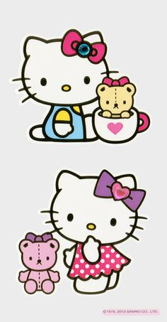 https://flic.kr/p/rxriDF | Sanrio Hello Kitty Large and Small Stickers