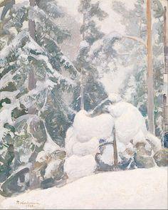 Winter Landscape (oil painting) 1922, Pekka Halonen