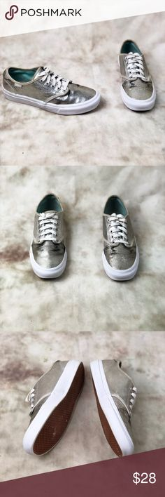 a668a90313a Vans Silver Metallic Sneakers Women s size 8. In excellent preowned  condition. Shoes show normal