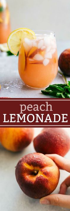 This naturally sweetened and healthier Peach Lemonade is so delicious and refreshing! Plus it's simple to make and stores for up to a week in the fridge! For SCD use honey instead of stevia Refreshing Drinks, Fun Drinks, Yummy Drinks, Healthy Drinks, Yummy Food, Beverages, Smoothie Drinks, Smoothie Recipes, Smoothies