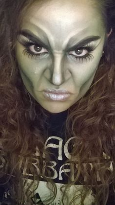 Halloween Green Witch Makeup