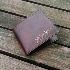 Lord of the Rings theme big leather wallet Not Available