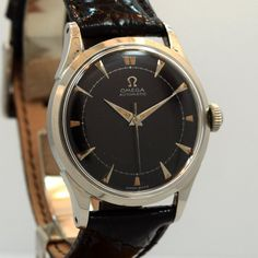 1949 Vintage Omega Ref. 2635-5 Stainless Steel Watch