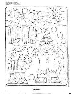 : Tracing Worksheets, Preschool Worksheets, Preschool Learning, Kindergarten Activities, Preschool Activities, Preschool Circus, Circus Crafts, Pre Writing, Writing Skills