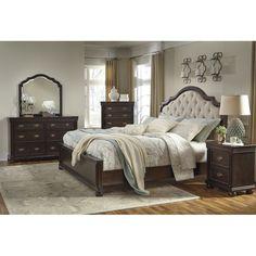 Signature Design By Ashley Moluxy Upholstered Panel Customizable Bedroom Set  U0026 Reviews | Wayfair