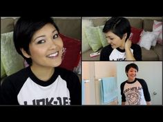 ▶ How To Style A Pixie Cut ❤ - YouTube SO, obviously I need some help with my new cut and I stumbled on this video and she is HILARIOUS! Especially the bloopers.