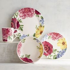 Cultivate a gorgeous, springtime-inspired tablescape with our Floral Medley Dinnerware. Featuring bold blooms, these ironstone pieces are dishwasher-safe and microwaveable. From a family breakfast to an afternoon tea to an evening dinner party, they brighten any dining experience.