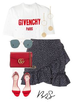 """#941"" by blendingtwostyles ❤ liked on Polyvore featuring Givenchy, Topshop, H&M, Gucci, Cloverpost and Ahlem"