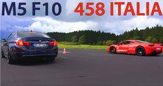 700HP BMW M5 F10 vs. Ferrari 458 Italia - Drag Race - http://www.bmwblog.com/2015/10/30/700hp-bmw-m5-f10-vs-ferrari-458-italia-drag-race/