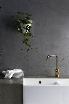 Kitchen modern detail | A69.08.V2 Icon Sink Mixer English Brass by Astra Walker