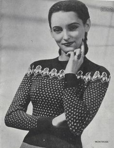 The Vintage Pattern Files: Free 1940s Knitting Pattern - Women's Fair Isle Sweaters Patons No. 262