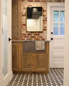 rustic design can take on many forms and we are inspired with this design. Concrete Cement, Cement Tiles, Bathroom Floor Tiles, Kitchen Floor, Cement Countertops, Thin Brick, Brick Tiles, Flat Color, Rustic Design