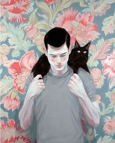 Image de boy, art, and cat