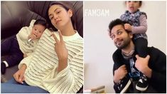 While Mira Rajput poses with son Zain, husband and Bollywood star Shahid Kapoor gives daughter Misha a ride on his shoulders. Check out new pictures.