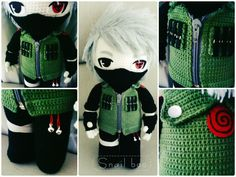 Kakashi crochet doll by abaoabao.deviantart.com on @deviantART