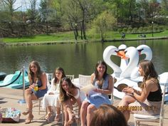 opening up gifts outdoors on a beautiful day makes a bridal shower fresh and fun! Destination Wedding Blog — Personal Touch Experience bridal shower, under the sea, mermaid, mermaid bride, mermaid bridal shower, under the sea shower for the bride to be, unique shower ideas, best bridal shower, best shower ideas, gift openeing