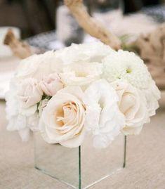 "6"" Mirrored Cube Glassware Wholesale Wedding Centerpiece-M6 - Viva La Rosa Wedding Flower Arrangements, Wedding Table Centerpieces, Flower Centerpieces, Wedding Decorations, Centerpiece Ideas, Mirror Centerpiece, Floral Wedding, Diy Wedding, Wedding Flowers"