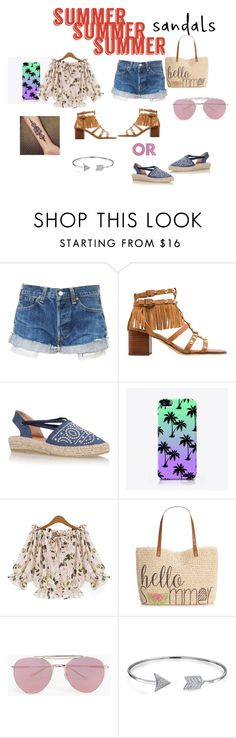 """""""SUMMER SANDALS"""" by cocogirlxoxo on Polyvore featuring Sam Edelman, Kanna Shoes, The Small Print., Style & Co., Boohoo, Bling Jewelry and summersandals"""