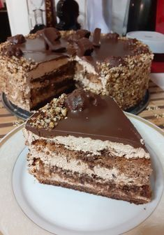 Chocolate Frosting Recipes, Chocolate Sweets, Best Chocolate Cake, Greek Sweets, Greek Desserts, Sweets Recipes, Baking Recipes, Cake Recipes, Vintage Birthday Cakes