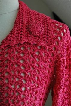 free crochet pattern drops cardigan ☼ Teresa Restegui http://www.pinterest.com/teretegui/☼
