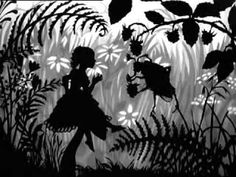 "watch this**** paper cutout silhouette art made into a motion picture.***""Däumelinchen"" by Lotte Reiniger Däumelinchen rescored by Anna Drubich. Commission by ""GAM""- Ensemble (Ансамбль «Галерея актуальной музыки Illustrator, Shadow Theatre, Art Populaire, Jeff Koons, Shadow Art, Shadow Puppets, Silhouette Art, Animation Film, Stop Motion"
