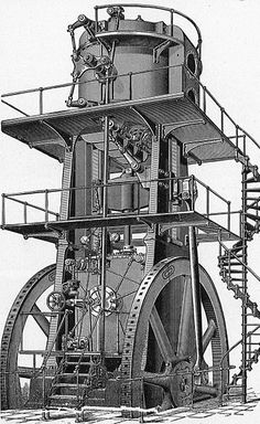 Allis blowing engine (New Catechism of the Steam Engine, 1904).jpg