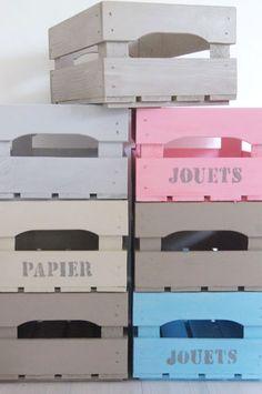 Cajon de verduras reciclado decoupage pinterest for Cassette di legno ikea