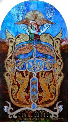 Dávid Júlia festőművész honlapja   Galéria   Üvegkompozíciók Alien Concept, David, Julia, Deities, Hungary, Mythology, Vikings, Fairy Tales, Mandala