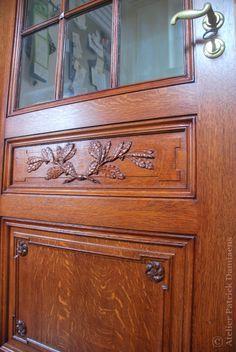 Architectural doors | Wood Carving and ornaments | eiekhouten binnendeuren met houtsnijwerk