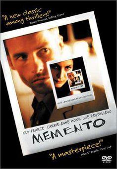 Memento  Dir: Christopher Nolan  Cast: Guy Pearce, Carrie Ann Moss & Joe Pantoliano