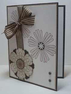 Card, browns, Stampin up  Could use any combo of colors