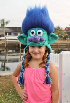 Trolls Happy Branch Crochet Hat PDF Pattern, Crochet Hat Pattern, Trolls Movie Happy Branch Hat, Tro