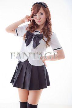 Japanese Japan School Girl Sleeve Uniform Cosplay Costume Custom Any Size | eBay