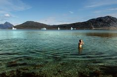 It is not uncommon for Greenlanders to take a dip among icebergs in half-frozen fjords, but more appealing are the country's hot springs pools, such as this one near Alluuitsup Paa on the uninhabited island of Uunartoq, in southern Greenland (www.greenland.com). The water temperature gets as high as 38ºC.