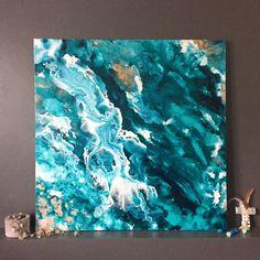 Beautiful Copper Ocean   Original Art   Louise BrookThe Block Shop - Channel 9